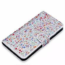 [KS072] ★ iPhone 6 / 6Plus / 7 / 7Plus ★ 手帳型 ケース ローズ ブラック ゴールド ホワイト カラー レインドロップ きらきら 水玉 カード スタンド