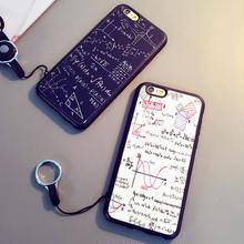 [KS064] ★ iPhone 6 / 6Plus / 7 / 7Plus ★ シェル型 ケース ブラック ホワイト 数学 数式 デザイン リング ユニーク スマート おもしろい
