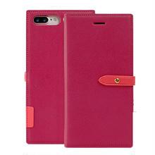 [KS057] ★ iPhone 6 / 6Plus / 7 / 7Plus ★ 手帳型 ケース バイカラー ベルト付 スリム 手帳型 スタンド カード収納 付き iPhoneケース