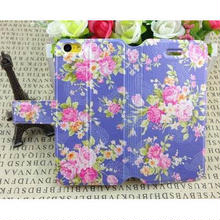 [KK041]iPhone5cケース 選べる花柄手帳タイプ(10色)