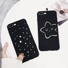 [NW159] ★ iPhone 6 / 6s / 6Plus / 6sPlus / 7 / 7Plus ★ シェルカバー ケース ミラー夜空 星 スター イラスト シンプル iPhone ケース