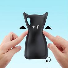 [NW398] ★ iPhone X ★ シェルカバー ケース デビル 悪魔 ソフト ハロウィン かわいい ブラック レッド ピンク シリコン カバー