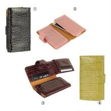 [YS033] iPhone5 /5s ケース クロコダイル 型押し ウォレット スマホ ポーチ ( イエロー / ブラウン / ブラック / ピンク ) カード カバー アイフォン 財布 高級 便利