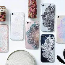 [MD378] ★ iPhone 6 / 6s / 6Plus / 6sPlus / 7 / 7Plus / 8 / 8Plus / X ★ シェルカバー ケース フラワー レース  グラデーション