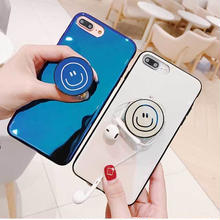 [MD433] ★ iPhone 6 / 6s /6Plus / 6sPlus / 7 / 7Plus / 8 / 8Plus / X ★ シェルカバー ケース スマイル グリップトック ブルーレイ