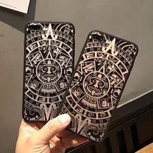 [NW281] ★ iPhone 6 / 6s / 6Plus / 6sPlus / 7 / 7Plus ★シェルカバー ケース クール エスニック デザイン ブラック ユニセックス