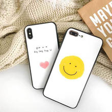 [MD372] ★ iPhone 6 / 6s / 6Plus / 6sPlus / 7 / 7Plus / 8 / 8Plus / X ★ シェルカバー ケース にこちゃん ハート パステル 可愛い