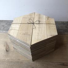ウッドタイル Hexagon-rough Lot 10