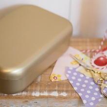 アルマイト 弁当箱 ゴールド