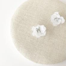ミニflowerピアス(パールキャッチ付き)