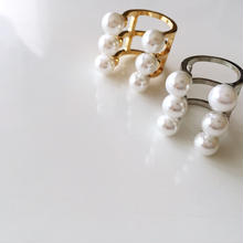 NEW  Imitation Pearl ring《ゴールド、シルバー》
