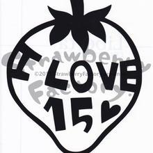 ワンポイントシリーズ【I LOVE15ハート】6cm版