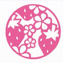 丸型シリーズ【フラワーロードいちご】12cm版