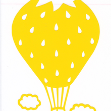 ワンポイントシリーズ【雲といちご気球】5cm版