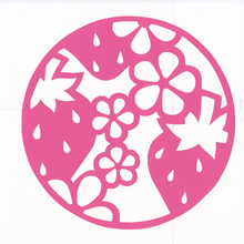 丸型シリーズ【フラワーロードいちご】6cm版