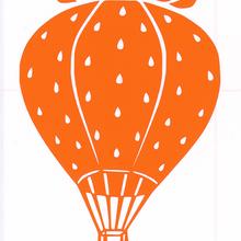 ワンポイントシリーズ【網カゴのいちご気球】6cm版
