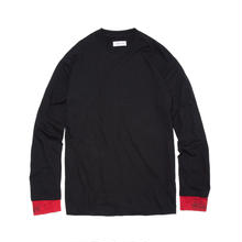 -DIRT- LAYERED LONG SLEEVE TEE / BLACK-RED