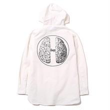 BRAIN - Hood Shirt- / WHITE
