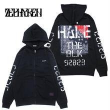 ZIP PARKA -Inhale the black- / BLACK-NAVY