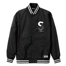 S-BONE VARSITY JKT / BLACK