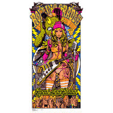 RCxRJBxEROSTIKA THUNDER SOUND GIRL SILKSCREAN POSTER 2nd COLOR 専用木製フレーム付