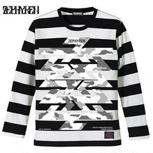 BORDER L/S TEE -Cut the world- / BLACK-WHITE