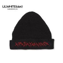 -PSYCHO- KNIT CAP / BLACK-RED