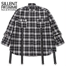 MALCOLM -Zip Wide Shirts- / BLACK-CHECK