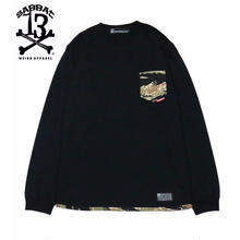 CAMO POCKET L/S T / BLACK