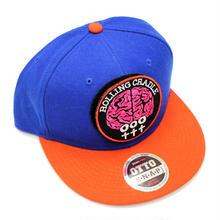 BRAIN PATCH CAP / Blue-Orange