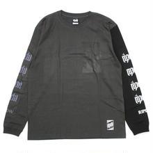 2TONE LONG T-SHIRT / CHARCOAL-BLACK