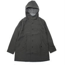 BACK STYLE FOODED COAT / CHARCOAL