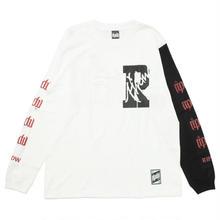 2TONE LONG T-SHIRT / WHITE-BLACK