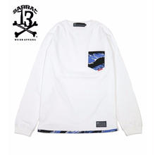 CAMO POCKET L/S T / WHITE