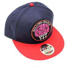 BRAIN PATCH CAP / Navy-Red