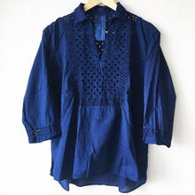 indigo-dyed skipper blouse pw / 03-7208004