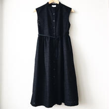 sleeveless gathered op / 03-7205005