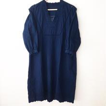 indigo-dyed v-neck op / 03-6305007
