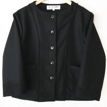 collarless  melton jacket / 03-6304001