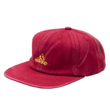 "3 SLICE 6PANEL CAP ""RED"""
