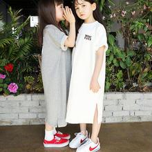 (即納♡)(kids☆)ホワイトロゴTシャツワンピース