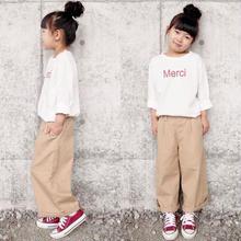 (即納♡)(kids☆)赤ロゴメルシーロングTシャツ (ホワイト)