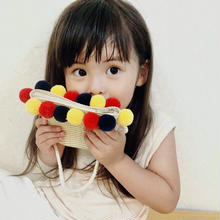 (即納♡)(kids☆)ポンポン付ショルダーかごBAG