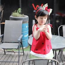 (即納♡)(kids☆ヘアリボン付スイカワンピース