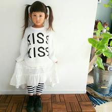 (即納♡)(kids☆)ホワイトKissセーター♡