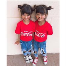 (即納♡)(kids☆)コカコーラTシャツ★レッド