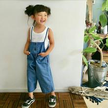 (即納♡)(kids☆ デニムボタン付サロペット