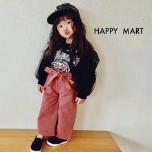 【即納♡】【kids 】リボン付ピンクワイドパンツ