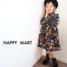 (即納♡)(kids☆)グリーンアンティーク柄ワンピース