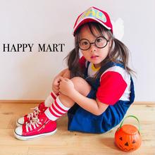 (即納♡)(kidS)アラレちゃんコスプレ♡Tシャツ&サロぺットワンピ&メガネ&ソックス&帽子5点SET
